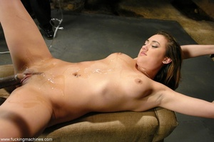Elegant young babe gets tied up and dril - XXX Dessert - Picture 10