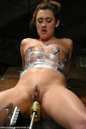 Elegant young babe gets tied up and dril - XXX Dessert - Picture 14