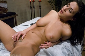 Busty brunette lady enjoys in a sexy mas - XXX Dessert - Picture 10