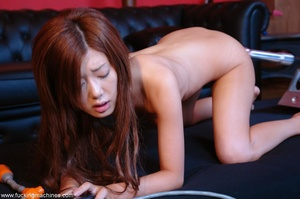 Asian lady getting her hairy cunt drille - XXX Dessert - Picture 7