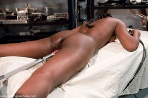 Busty ebony model stimulates her tits an - XXX Dessert - Picture 9