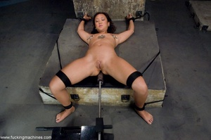 Inked Asian porn star is tied up and dri - XXX Dessert - Picture 6