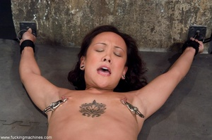 Inked Asian porn star is tied up and dri - XXX Dessert - Picture 7