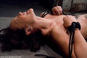 Inked Asian porn star is tied up and dri - XXX Dessert - Picture 8
