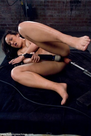 Inked Asian porn star is tied up and dri - XXX Dessert - Picture 11