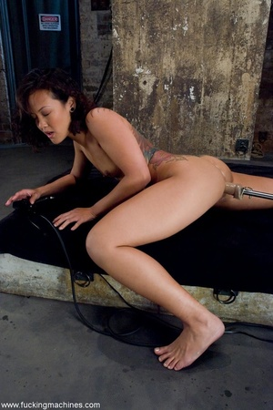 Inked Asian porn star is tied up and dri - XXX Dessert - Picture 14