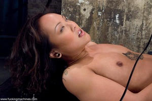 Inked Asian porn star is tied up and dri - XXX Dessert - Picture 16