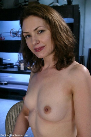Petite gal rides a sybian and enjoys dri - XXX Dessert - Picture 1