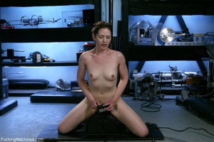 Petite gal rides a sybian and enjoys dri - XXX Dessert - Picture 14