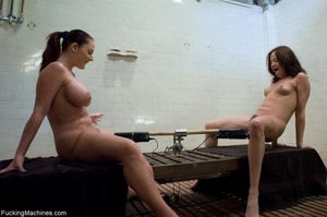 Two busty brunettes having fun with fuck - XXX Dessert - Picture 2