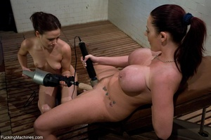 Two busty brunettes having fun with fuck - XXX Dessert - Picture 11