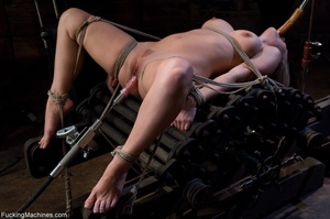 Blonde gal gets tied up, blindfolded and - Picture 3