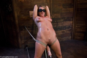 Blonde gal gets tied up, blindfolded and - Picture 7