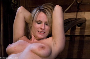 Blonde gal gets tied up, blindfolded and - Picture 14
