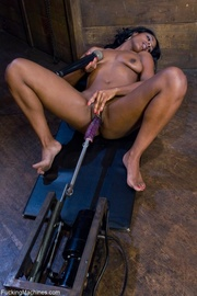 impressive ebony honey enjoying