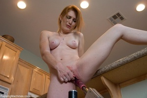Brunette honey gets her smooth twat dril - XXX Dessert - Picture 5