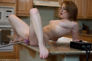 Brunette honey gets her smooth twat dril - XXX Dessert - Picture 12