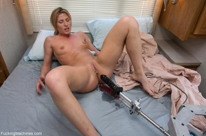 Petite blonde gal using multiple sex toy - XXX Dessert - Picture 15