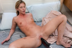 Petite blonde gal using multiple sex toy - XXX Dessert - Picture 16