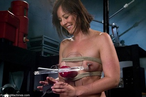 Brunette lady gets her tits stimulated a - XXX Dessert - Picture 3