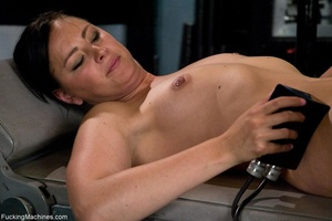 Brunette lady gets her tits stimulated a - XXX Dessert - Picture 5