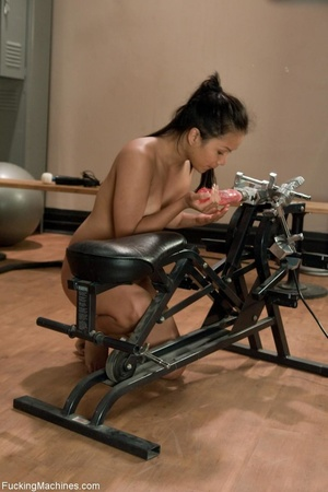 Raven haired gal working out with her se - XXX Dessert - Picture 6