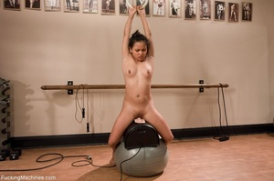 Raven haired gal working out with her se - XXX Dessert - Picture 16