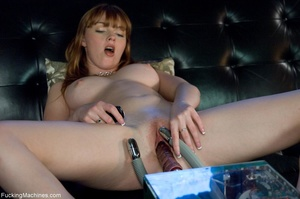 Busty lady with glasses gets her cunt dr - XXX Dessert - Picture 7