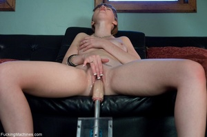 Busty lady with glasses gets her cunt dr - XXX Dessert - Picture 15