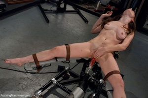 Tied up gal using her vibrator and getti - XXX Dessert - Picture 4