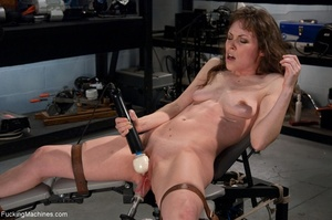 Tied up gal using her vibrator and getti - XXX Dessert - Picture 12