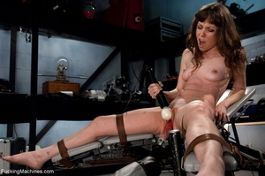 Tied up gal using her vibrator and getti - XXX Dessert - Picture 13