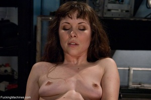 Tied up gal using her vibrator and getti - XXX Dessert - Picture 14