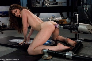 Tied up gal using her vibrator and getti - XXX Dessert - Picture 17