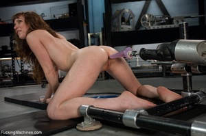 Tied up gal using her vibrator and getti - XXX Dessert - Picture 18