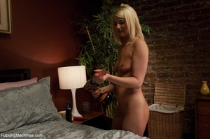Blonde gal in white socks teasing her sm - XXX Dessert - Picture 7