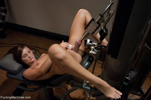 Brunette honey has a freaky workout with - XXX Dessert - Picture 9