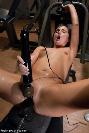 Brunette honey has a freaky workout with - XXX Dessert - Picture 16