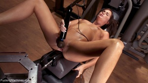Brunette honey has a freaky workout with - XXX Dessert - Picture 17