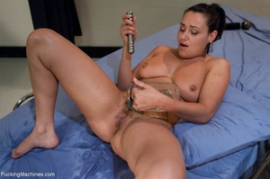 Brunette slut with huge tits gets her tr - XXX Dessert - Picture 8