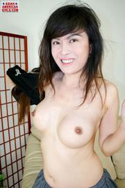 asian babe black top