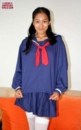 naughty asian blue school