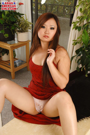pretty asian brunette red