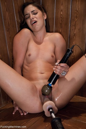 Slender brunette gal using many sex toys - XXX Dessert - Picture 5