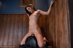Slender brunette gal using many sex toys - XXX Dessert - Picture 8