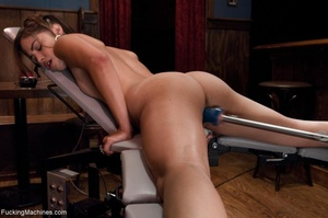 Slender brunette gal using many sex toys - XXX Dessert - Picture 16