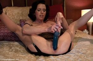 Brunette MILF gal in sexy lingerie drill - XXX Dessert - Picture 6