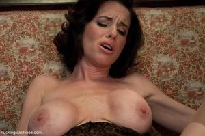Brunette MILF gal in sexy lingerie drill - XXX Dessert - Picture 10