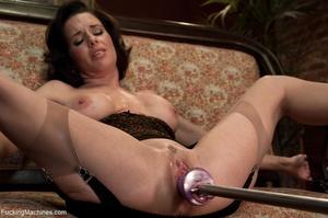 Brunette MILF gal in sexy lingerie drill - XXX Dessert - Picture 11