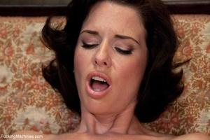 Brunette MILF gal in sexy lingerie drill - XXX Dessert - Picture 12